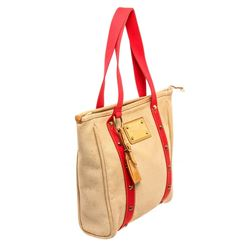 Louis Vuitton Beige Canvas Antigua Cabas MM Tote Bag