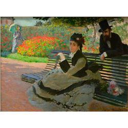 Claude Monet - Camille Monet on a Garden Bench