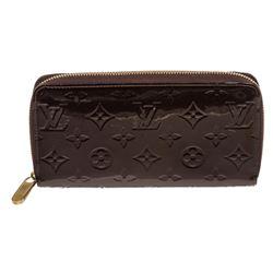Louis Vuitton Amarante Vernis Monogram Zippy Wallet