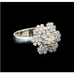 14KT White Gold 1.06 ctw Diamond Ring