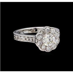 1.65 ctw Diamond Ring - 14KT White Gold