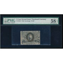 5 Cent Second Issue Fractional Note PMG 58EPQ