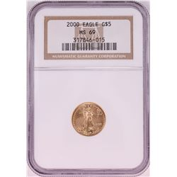2000 $5 American Gold Eagle Coin NGC MS69