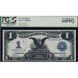 1899 $1 Black Eagle Silver Certificate PCGS 64PPQ