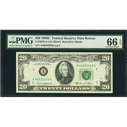 1969C $20 Boston Federal Reserve Note PMG 66EPQ