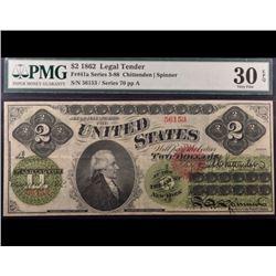 1862 $2 Legal Tender Note PMG 30EPQ