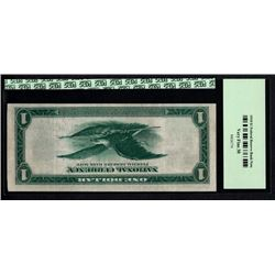 1918 $1 ERROR Inverted Back Federal Reserve Bank Note PCGS 30
