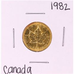 1982 Canada $10 Maple Leaf 1/4 oz Gold Coin