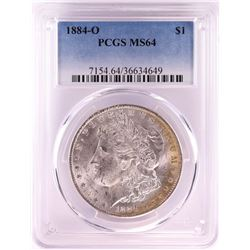1884-O $1 Morgan Silver Dollar Coin PCGS MS64 Nice Toning