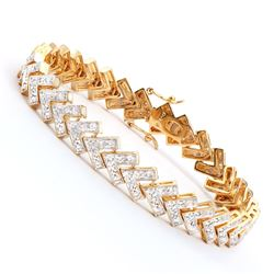 Plated 18KT Yellow Gold 0.80ctw Diamond Bracelet