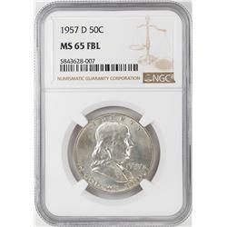 1957-D Franklin Half Dollar Coin NGC MS65FBL