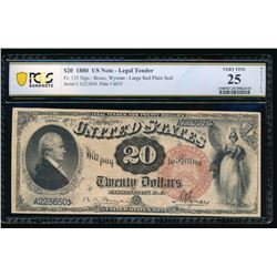 1880 $20 Legal Tender Note PGS 25