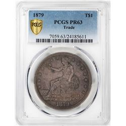 1879 $1 Proof Trade Silver Dollar Coin PCGS PR63