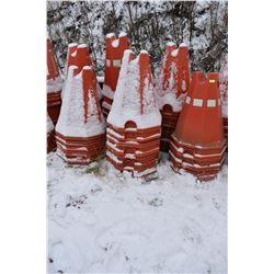 """FT.MAC: LOT OF 87 ELECTRICAL CABLE PYLONS, 32"""" HIGH"""