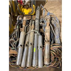 FT.MAC: LOT OF 6 GRUNDFOS STAINLESS SUBMERSIBLE