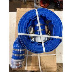FT.MAC: PROCORE 4IN X 100FT  BLUE LAYFLAT HOSE