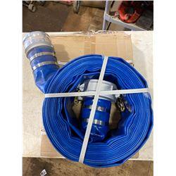 FT.MAC: PROCORE 4IN X 50FT  BLUE LAYFLAT HOSE