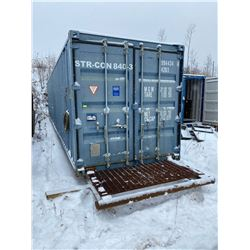 FT.MAC: SHIPPING CONTAINER ON SKID , 8FT x 40FT