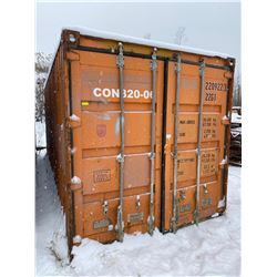 FT.MAC: SHIPPING CONTAINER, 8FTx20FTx8FT , NO SKID
