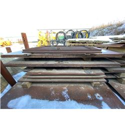 FT.MAC: LOT OF 11 ASSORTED STEEL PLATES, VARIOUS