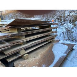 FT.MAC: LOT OF 16 ASSORTED STEEL PLATES, VARIOUS