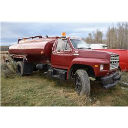 STURG.CNTY: 1980 FORD F700 WATER TRUCK, 370-2V GAS