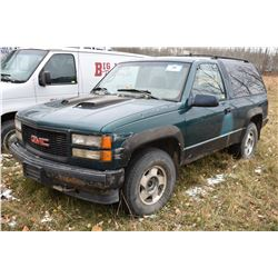 STURG.CNTY: 1995 GMC YUKON SL, 5.7L GAS ENGINE