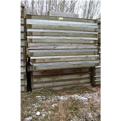 STURG.CNTY: LOT OF 12 PARTITION WALLS, 4' X 8' X 4""
