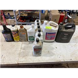 FT.MAC: 13 CONTAINERS OF ASSORTED LUBRICANTS &