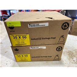 FT.MAC: 2 BOXES OF BLACK INDUSTRIAL GARBAGE BAGS