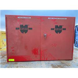 FT.MAC: WURTH 2 DOOR LOCKING METAL WALL CABINET