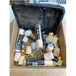FT.MAC: BOX OF PAINT TRAY LINERS & ROLLERS