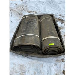 """FT.MAC: LOT OF TWO 36"""" RUBBER WALKWAY RUNNERS"""