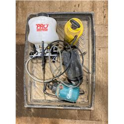 "FT.MAC: 32"" x 42""  SPILL TRAY & ASSORTED SPRAYERS"