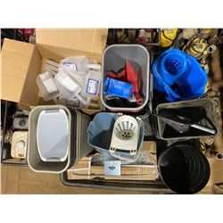 "FT.MAC: 38"" x 42"" SPILL TRAY & ASSORTED JANITORIAL"