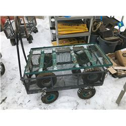 FT.MAC: LOT OF 2 METAL UTILITY CARTS, 1 WITH FOLD