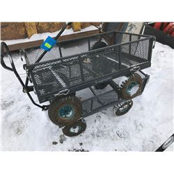 FT.MAC: LOT OF 2 METAL UTILITY CARTS, WITH FOLD