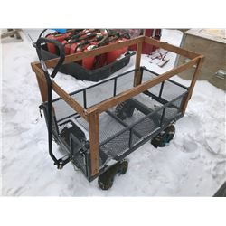 FT.MAC: METAL UTILITY CART WITH FOLD DOWN SIDES
