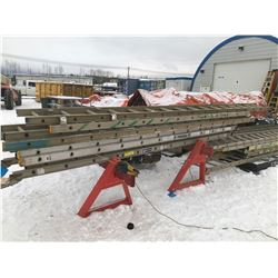 FT.MAC: LOT OF 6 ALUMINUM EXTENSION LADDERS,