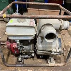 "FT.MAC: HONDA GX240 TRASH PUMP, 3"" INLET & OUTLET"