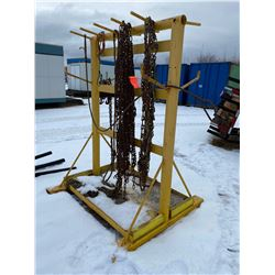 FT.MAC: 7FT STEEL RACK C/W TIRE CHAINS TO FIT JOHN