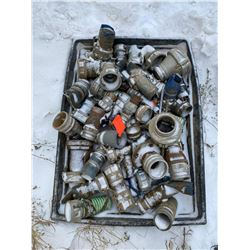 FT.MAC: ASSORTED CAM LOCK FITTINGS OF VARIOUS SIZES