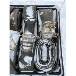 FT.MAC: LOT OF FOUR LAY-FLAT HOSE, 6IN X 50FT EACH