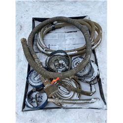 FT.MAC: LOT OF ASSORTED LAY-FLAT AND SUCTION HOSES