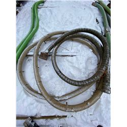 FT.MAC: LOT OF TWO 3 INCH SUCTION HOSE, VARIOUS