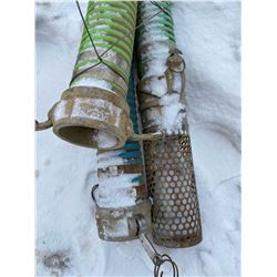 FT.MAC: LOT OF 3 SUCTION HOSE, 3IN X 20FT LONG