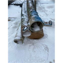 FT.MAC: LOT OF 4 SUCTION HOSE, 3IN X 20FT LONG