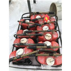 FT.MAC: LOT OF 10 BACK-PACK FIRE EXTINGUISHERS