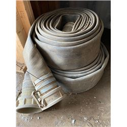 FT.MAC: LOT OF 2 LAY-FLAT HOSE, 4IN X 50FT