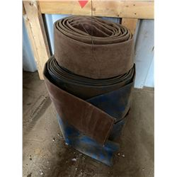 FT.MAC: LOT OF 3 LAY-FLAT HOSE, 4IN X 50FT, NO CAM